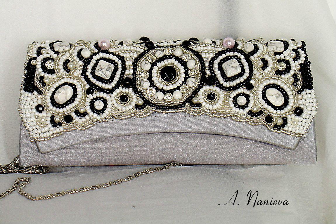handmade beads clutch eveninglook