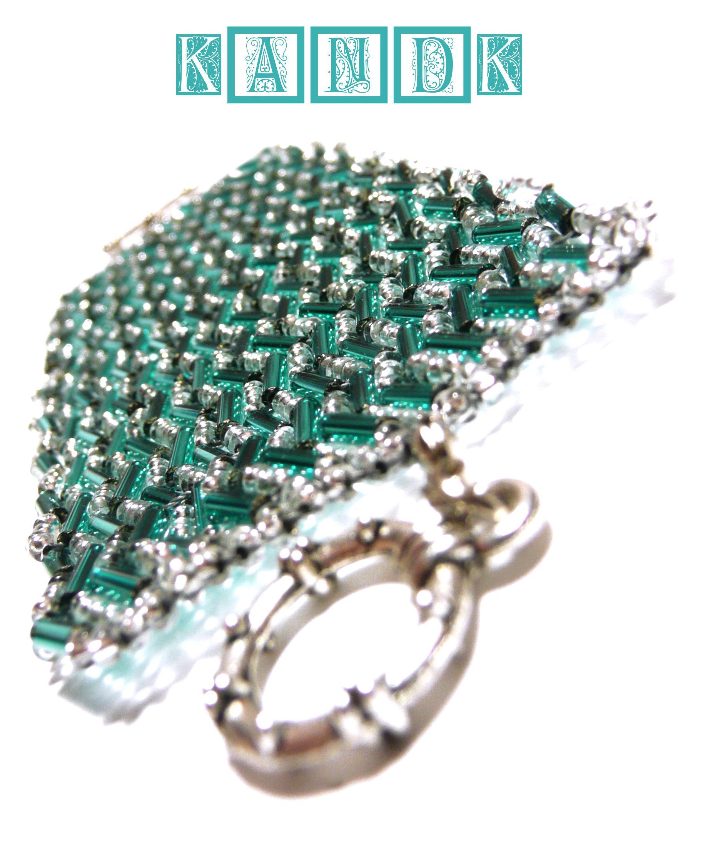 wristlet silver romantic sea jewelry blue