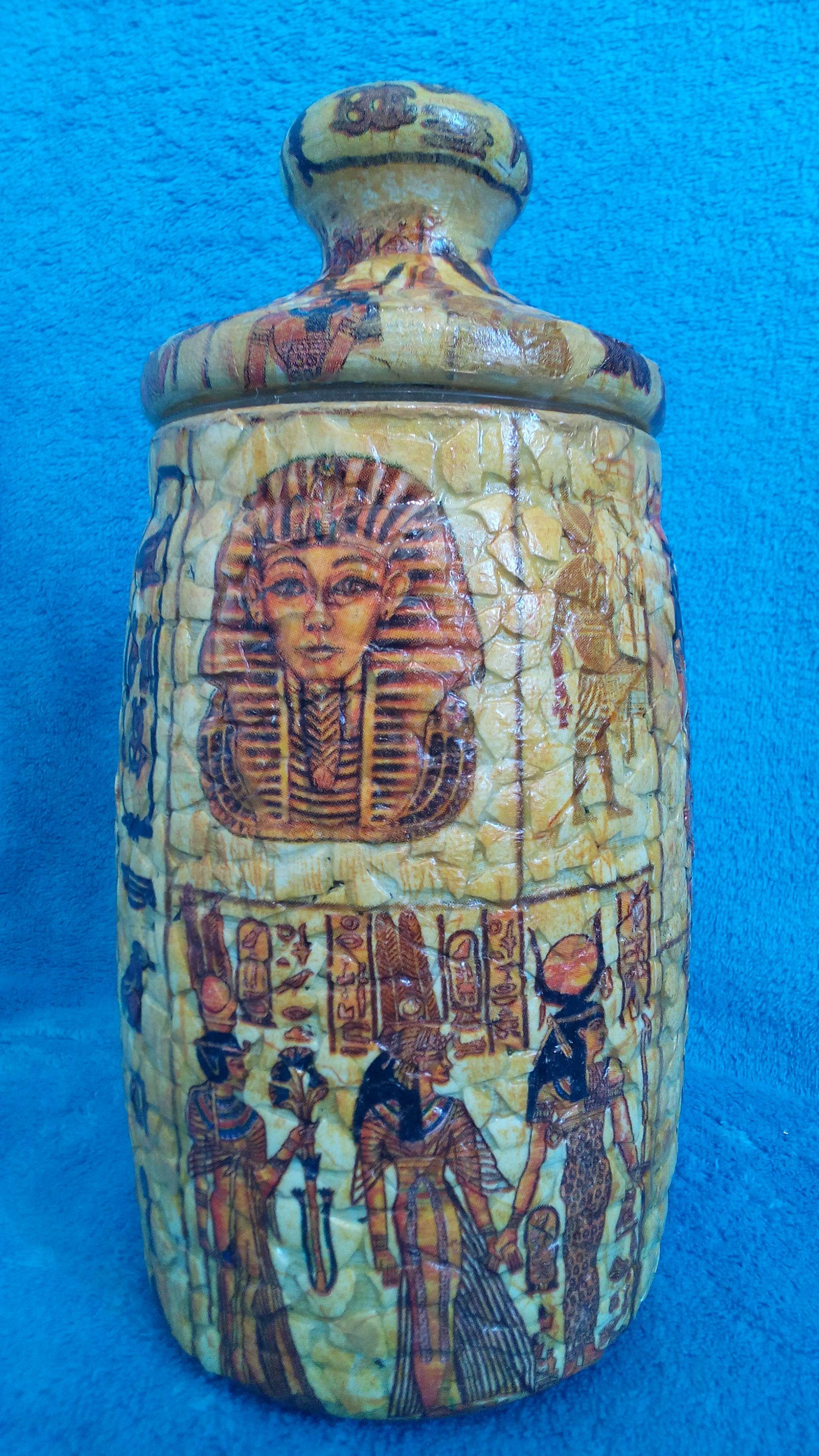 vase interior decoupage egypt