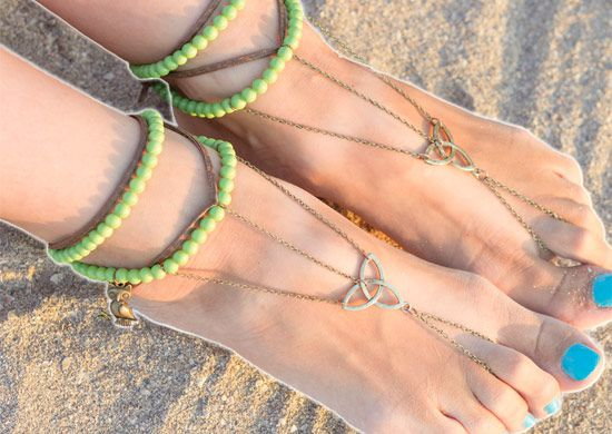 make accessories barefoot bangle sandals
