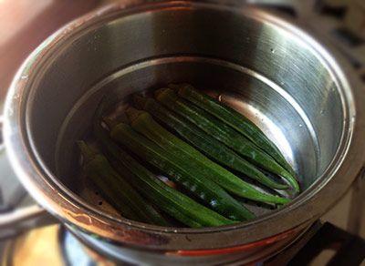 cookery okra cook ingredients recipe
