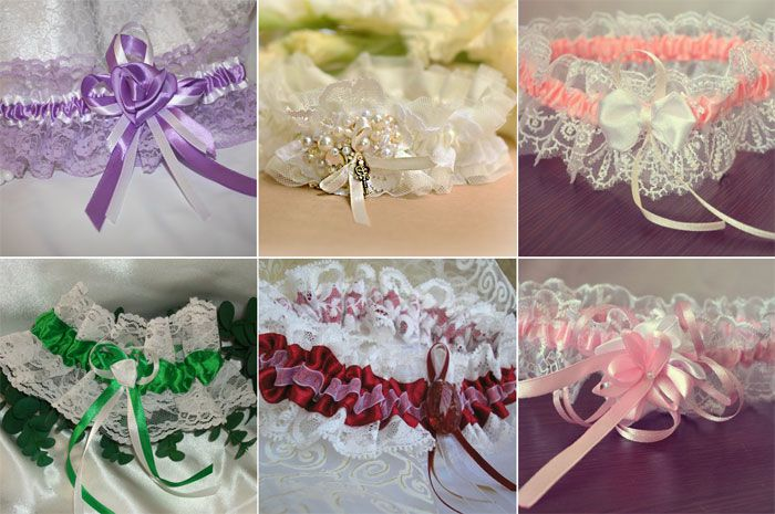 sewing garter ribbon quills lace