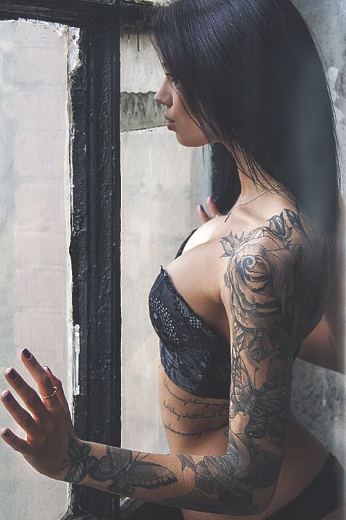 flowers erotic woman beauty ink girl hot sexy tattoo