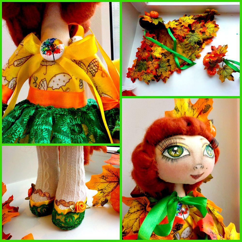 autumn cotton green gift interior ribbon fall textile orange christmas handmade doll yellow