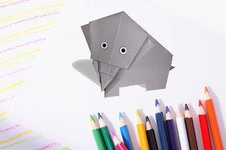 origami cat elephant animals dog