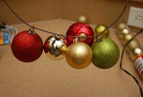 balls holidays wreath christmas make