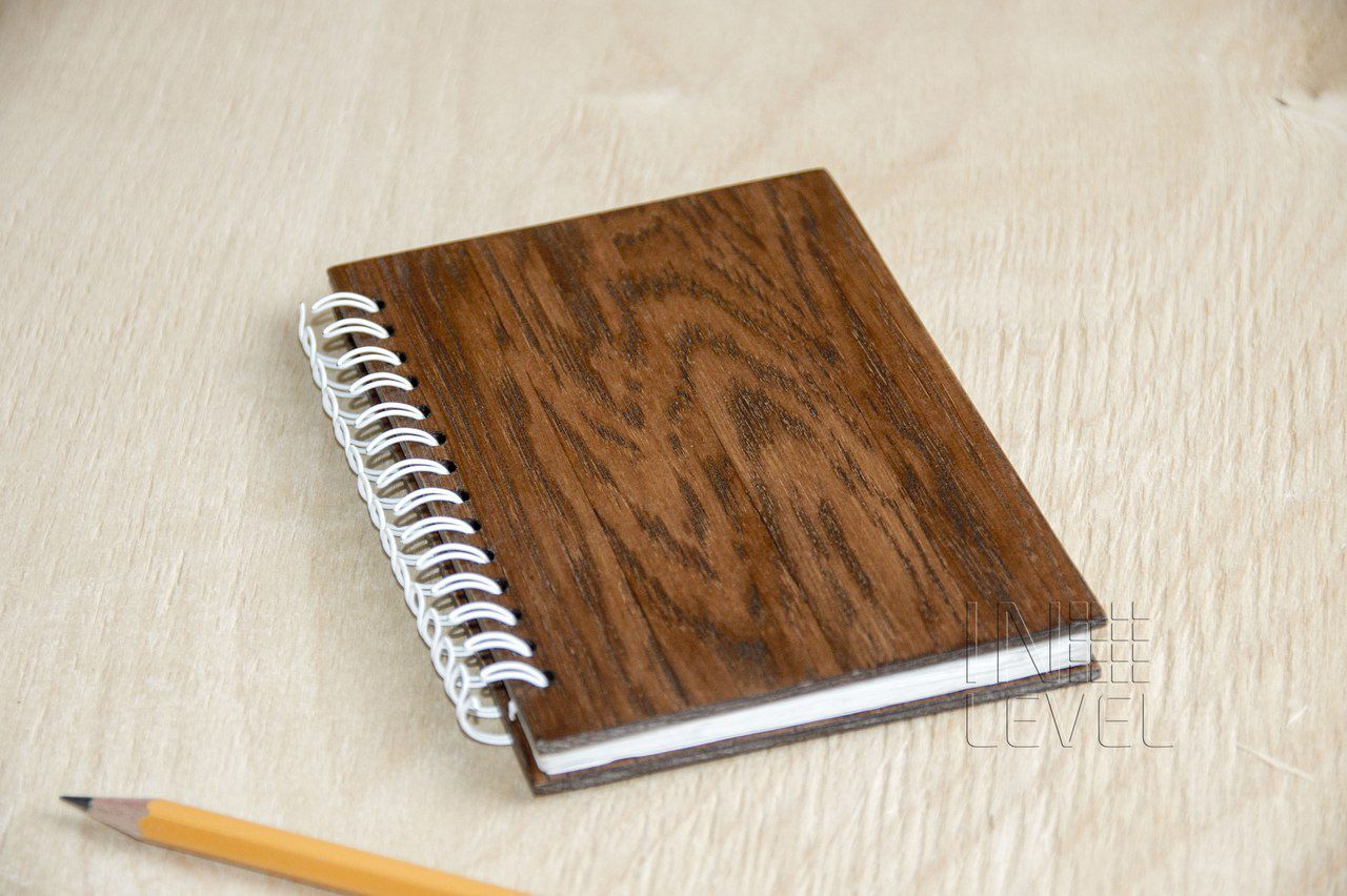 oak cover wooden notepad wood