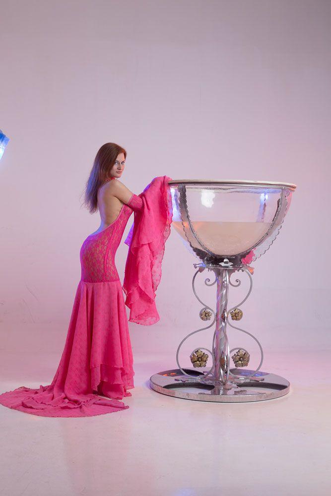 pinkdress removablesleeves stretch sunback guipure dress