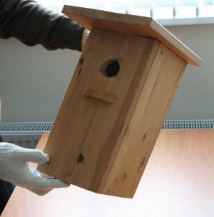 make draft wooden birdhouse handicrafts