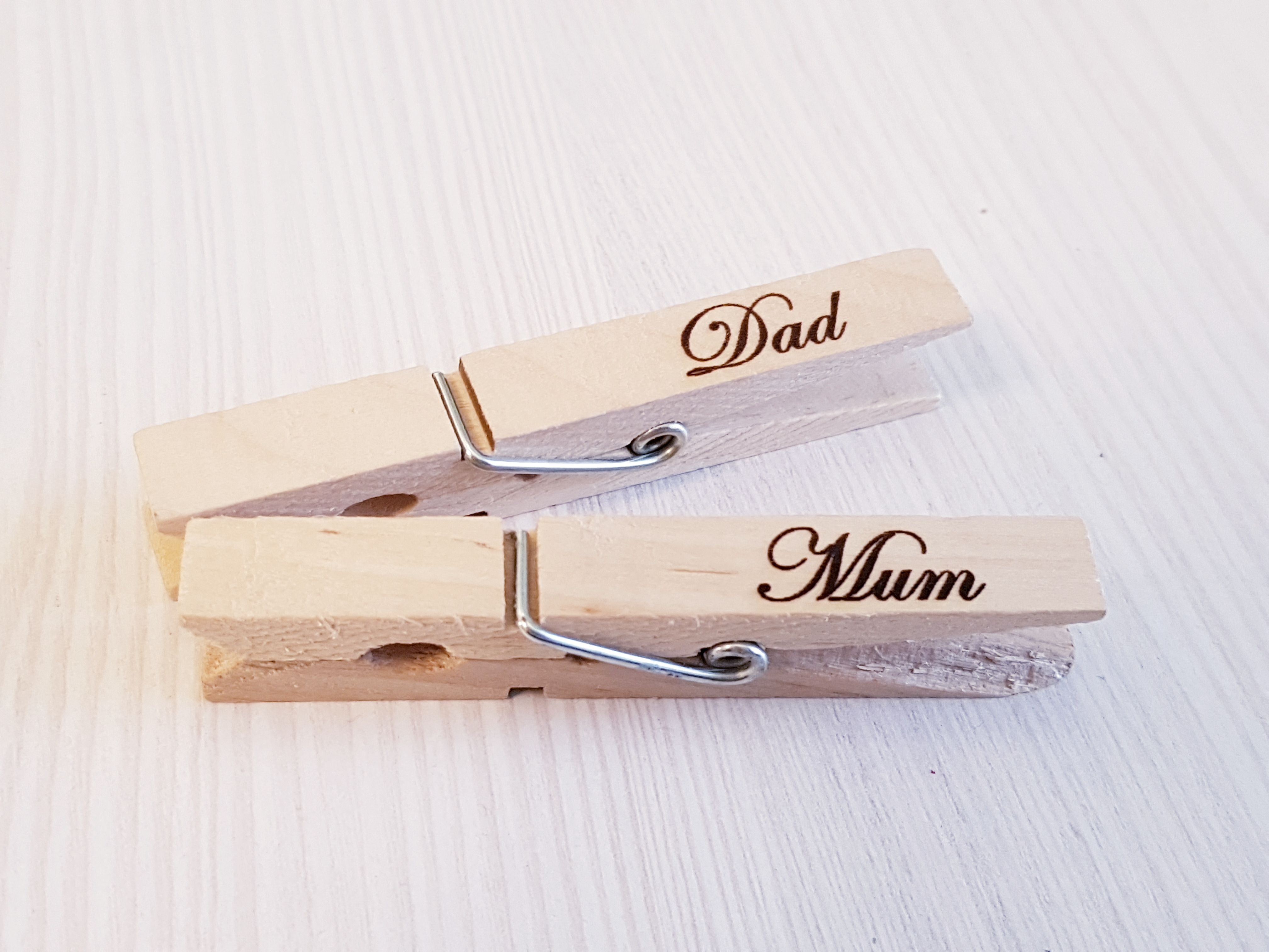 rustic sign decor personalized homemade home handmade personal clothespins wedding