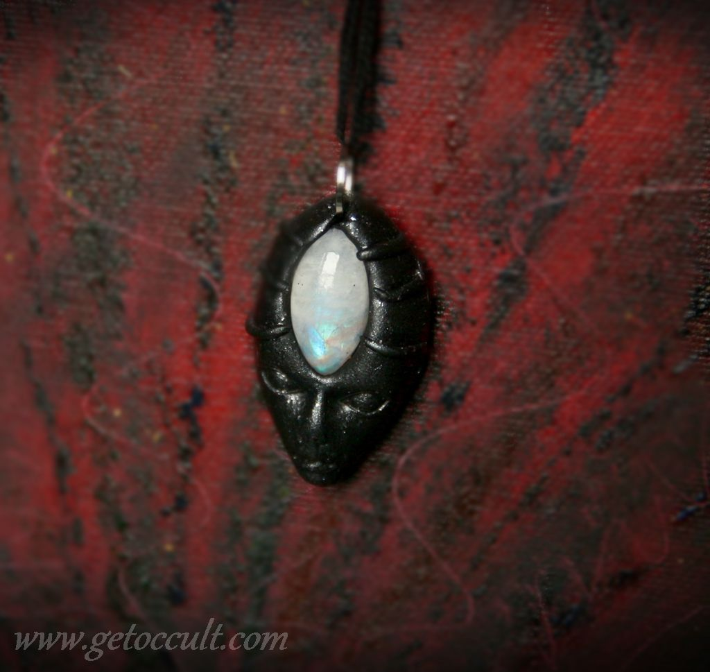 crystals witch wicca moonstone magic alternative occult pagan gems gothic