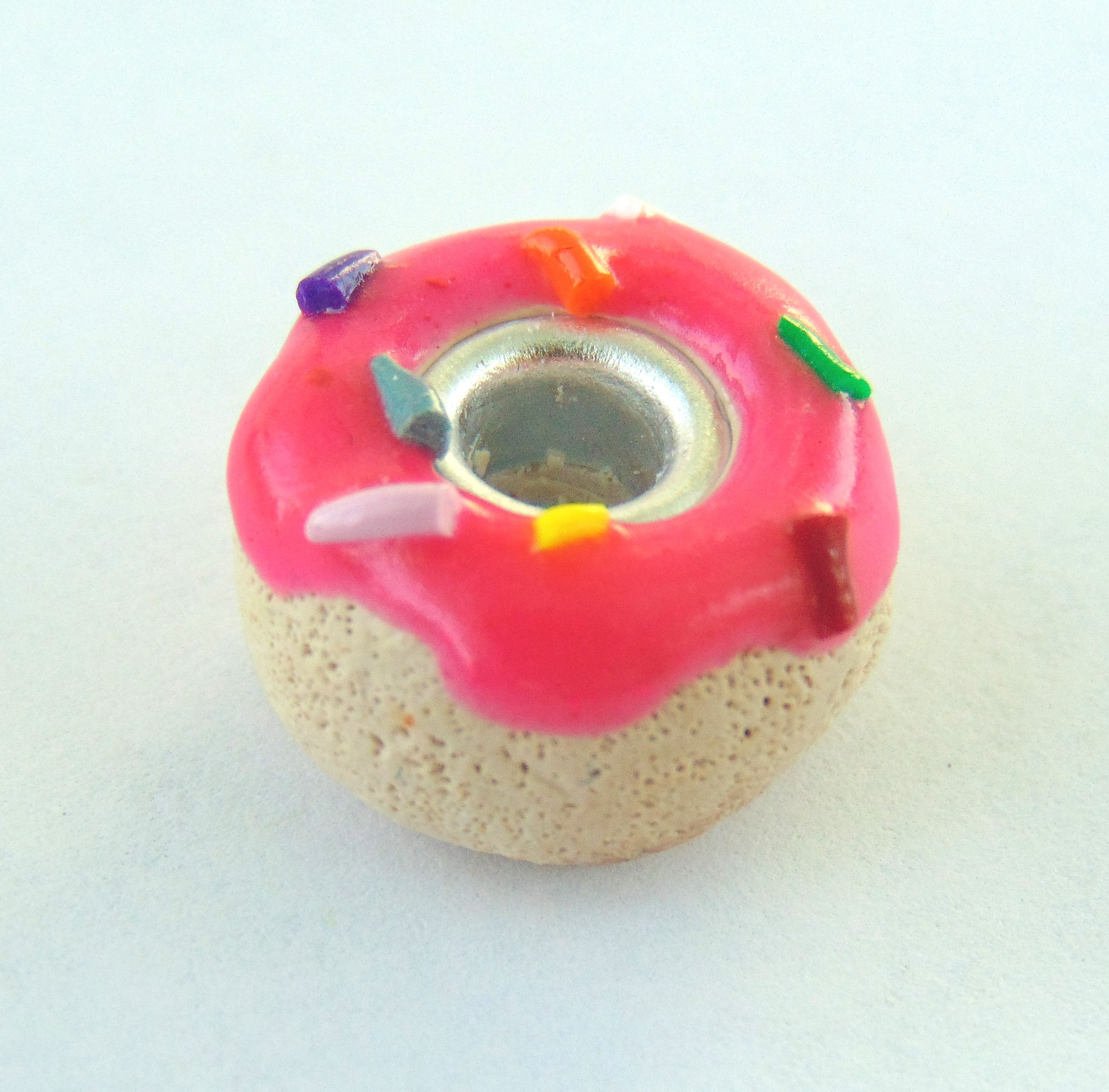 handmade donut sculpey cute clay food charm polymer pink handcrafted frosted sculpted sprinkle doughnut pandora bead pastry