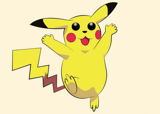 art pikachu pokemon color draw