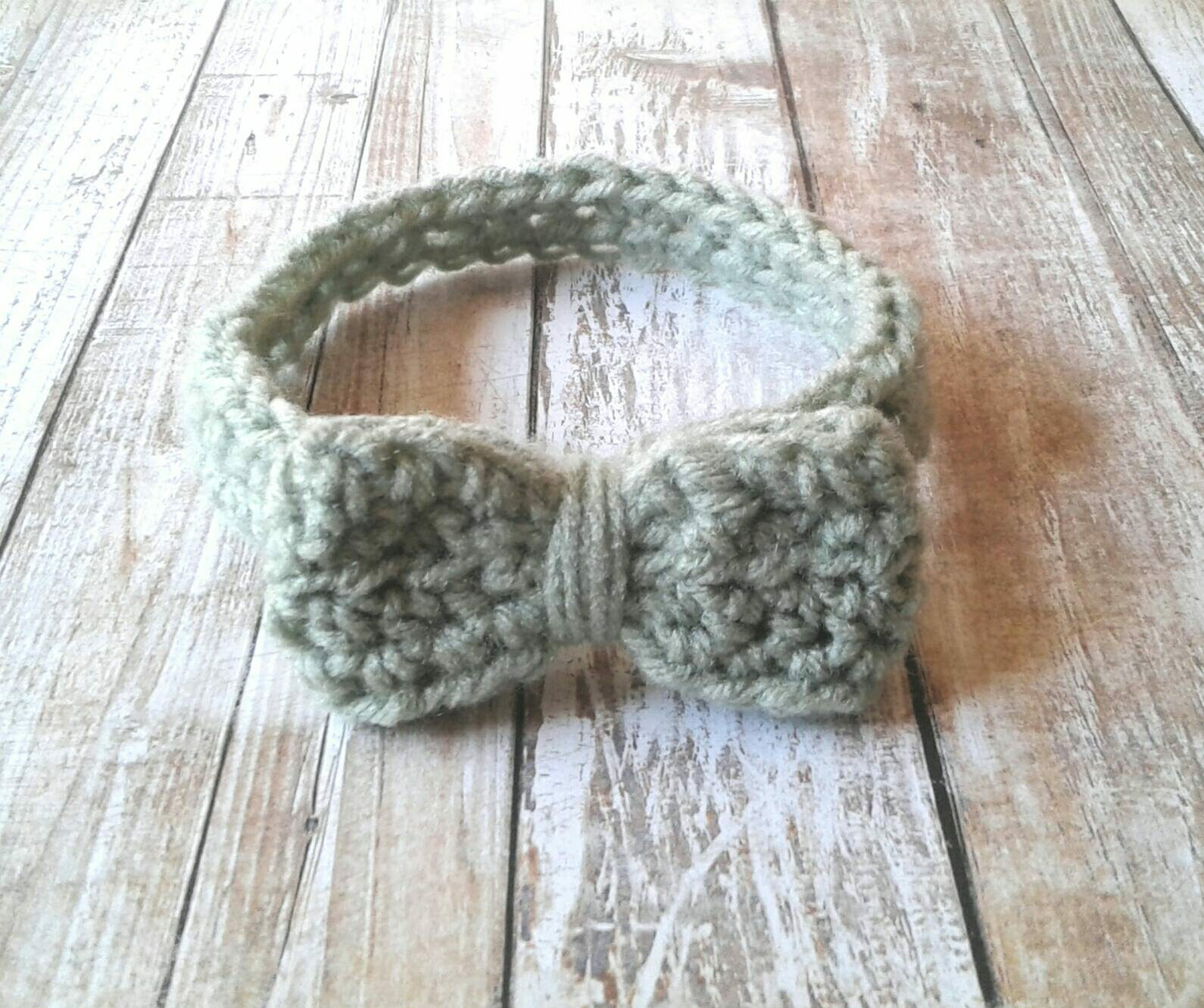 baby gift bow with crochet headband shower