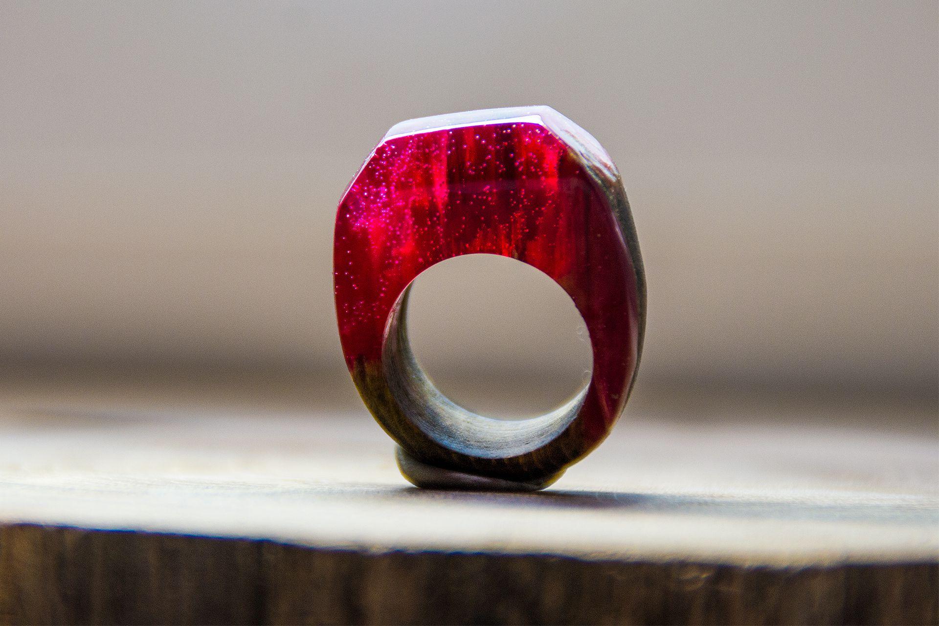handmade wooden jewellery woodenrings olyaki jewelleryresin epoxyresin