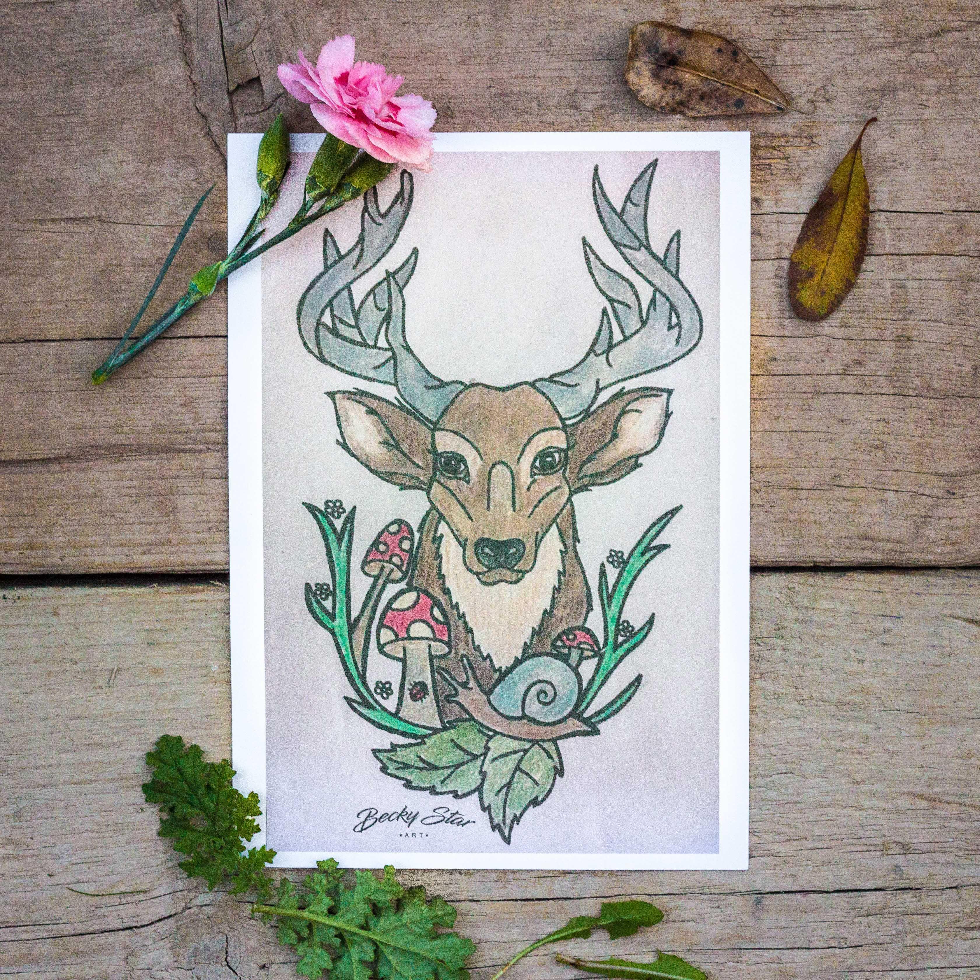 stag deer prints art