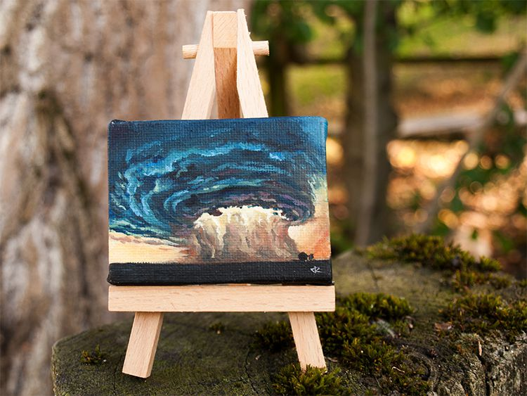 nature storm oil painting