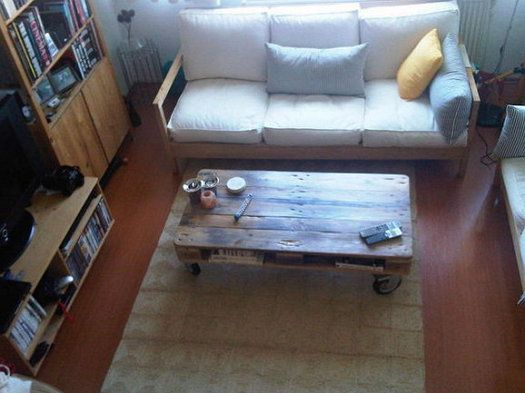 pallet furniture wooden coffee handicrafts table