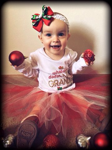 outfit tutu baby girls christmas first for tutus