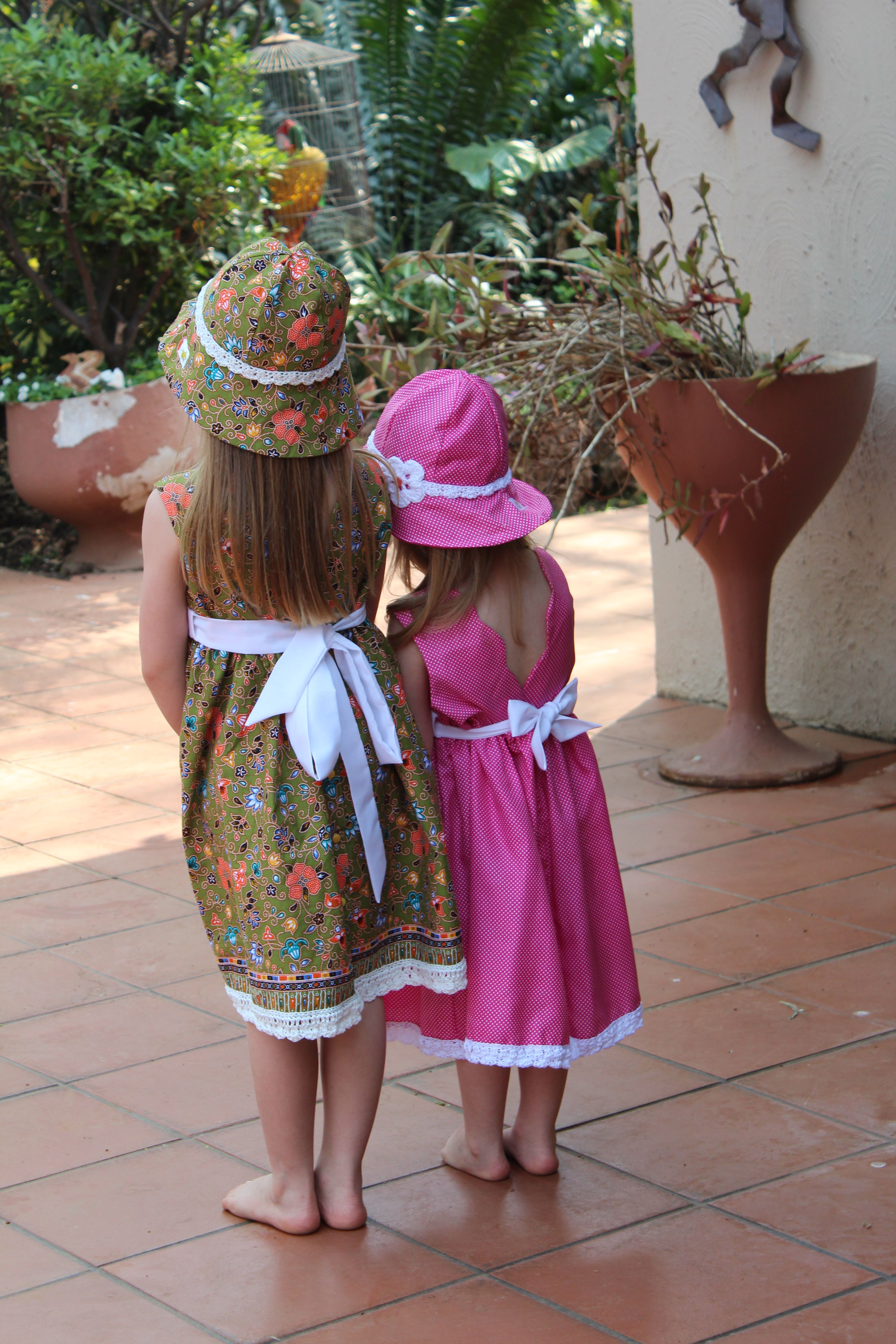 skirt green crochet wide girls hat occasion spring special dress floral summer sun for party