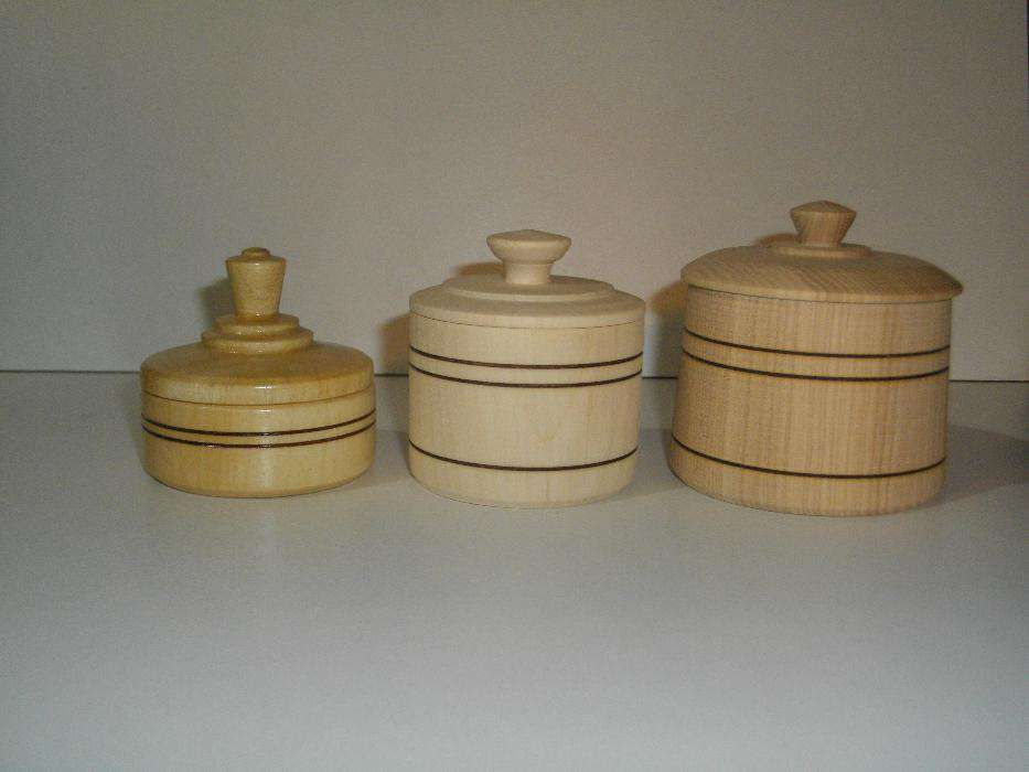 wooden jars cozy handicraft