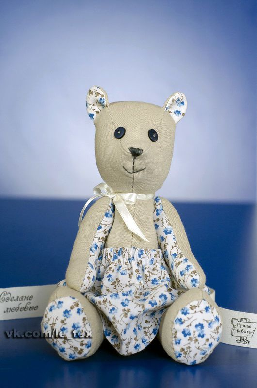 toy gift cotton linen bear