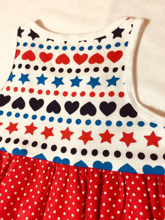 tshirtdresss holidaydresses summerdress cottondresses cottonfabric redwhiteblue girlsoutfits girlsclothing freeshipping
