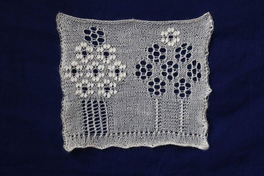 knitting chart cherry tree pattern mesh peony lace flower orenburg