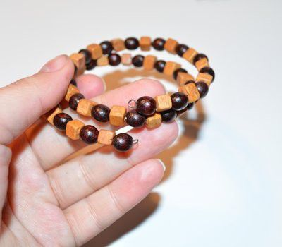 wire wrap wood make bracelets