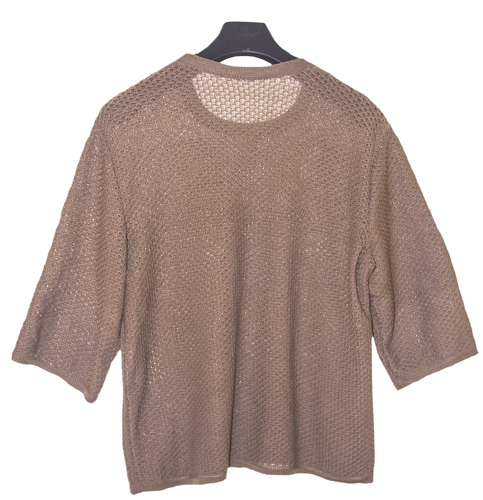 clothes knitting men beige tunic