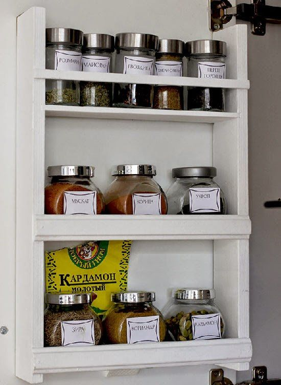 wooden spice jar rack make