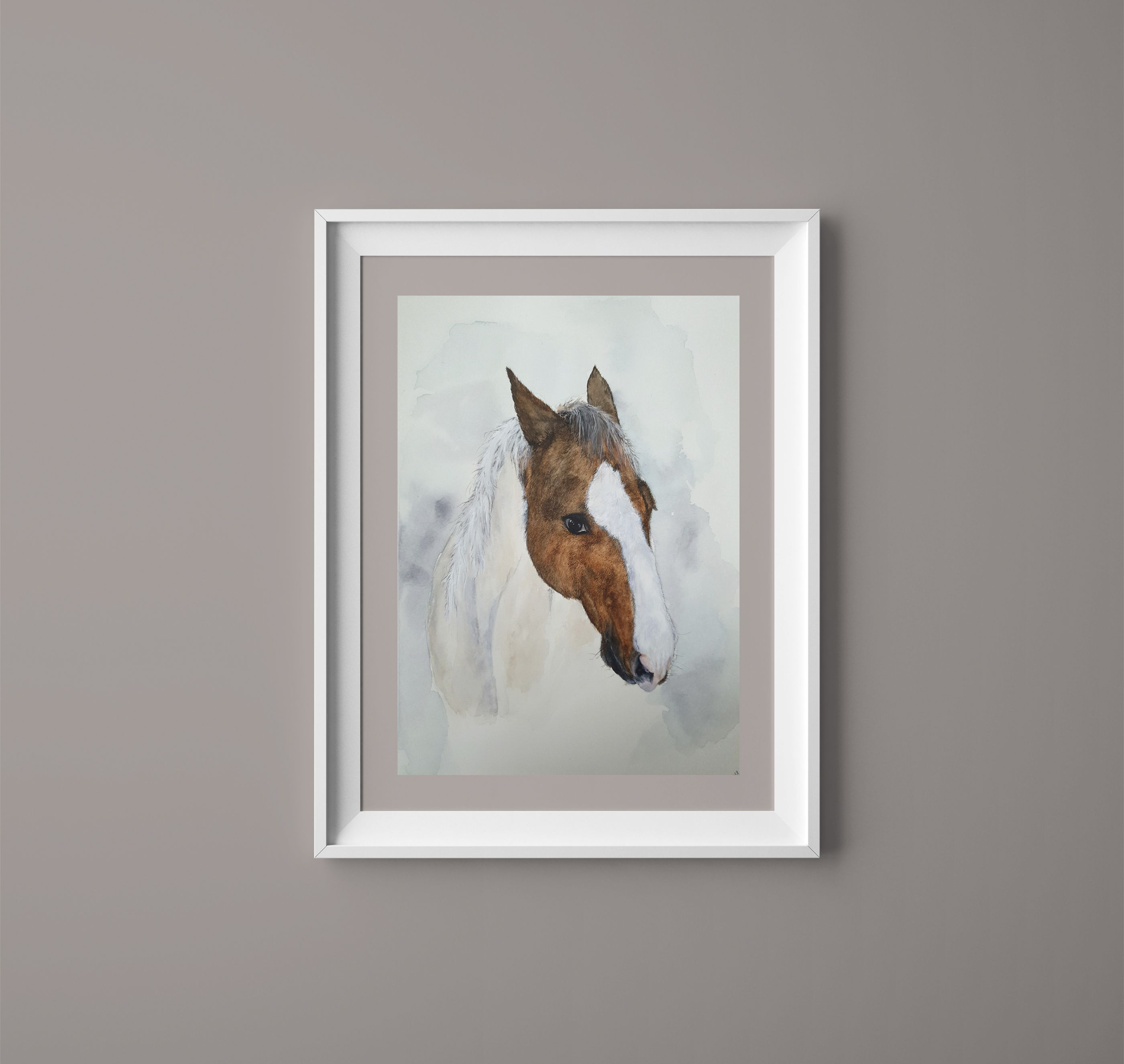 Horse Wall Art Watercolor Horse Lover Gift Animal Painting Horse Portrait