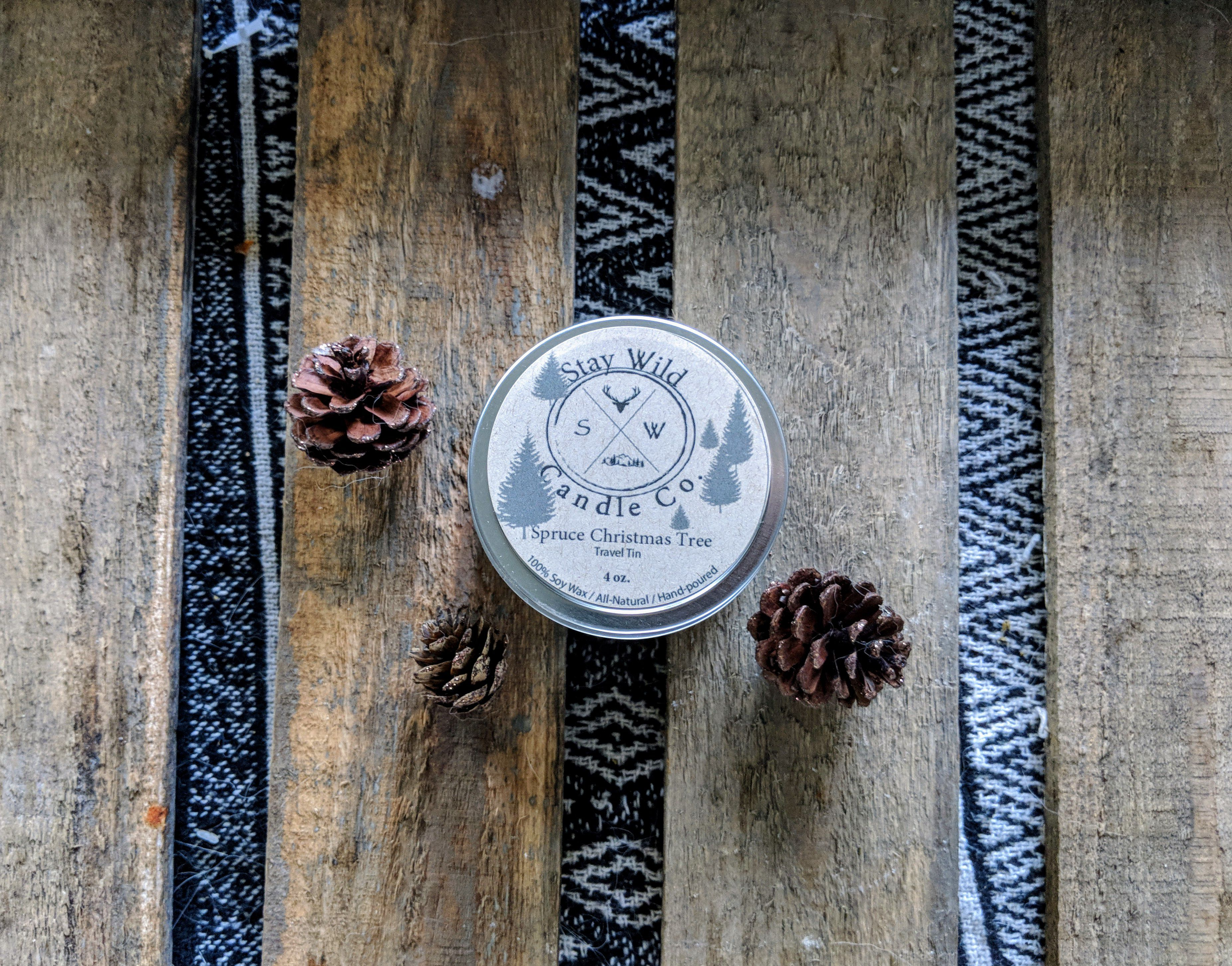 holiday candle gift soy outdoor travel christmas