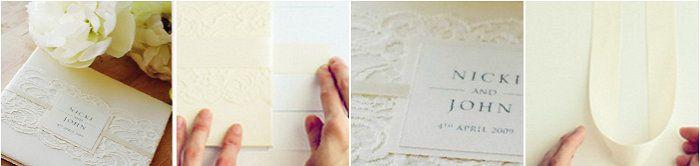 paper wedding lace vantage invitations