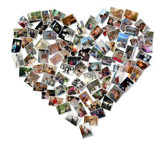 make gift heart decorate photos