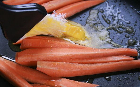 cookery fried steamed carrots cook