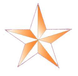 star colored draw pencil art