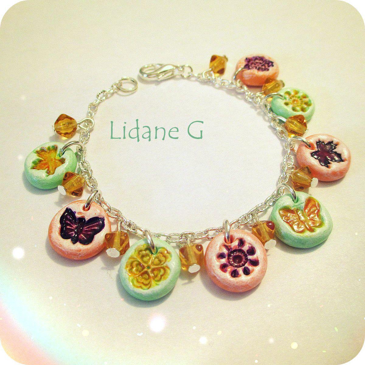 romantic silver jewelry colorful wristlet