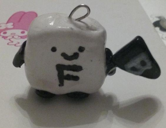 flag white charm creature cute black adorable polymerclay clay kawaii blackfriday