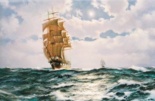 art painting sea interior picture