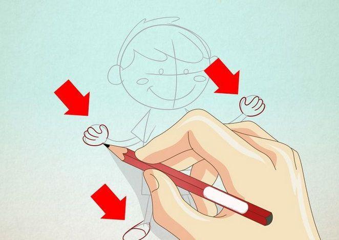 boy color draw conventional cartoon art