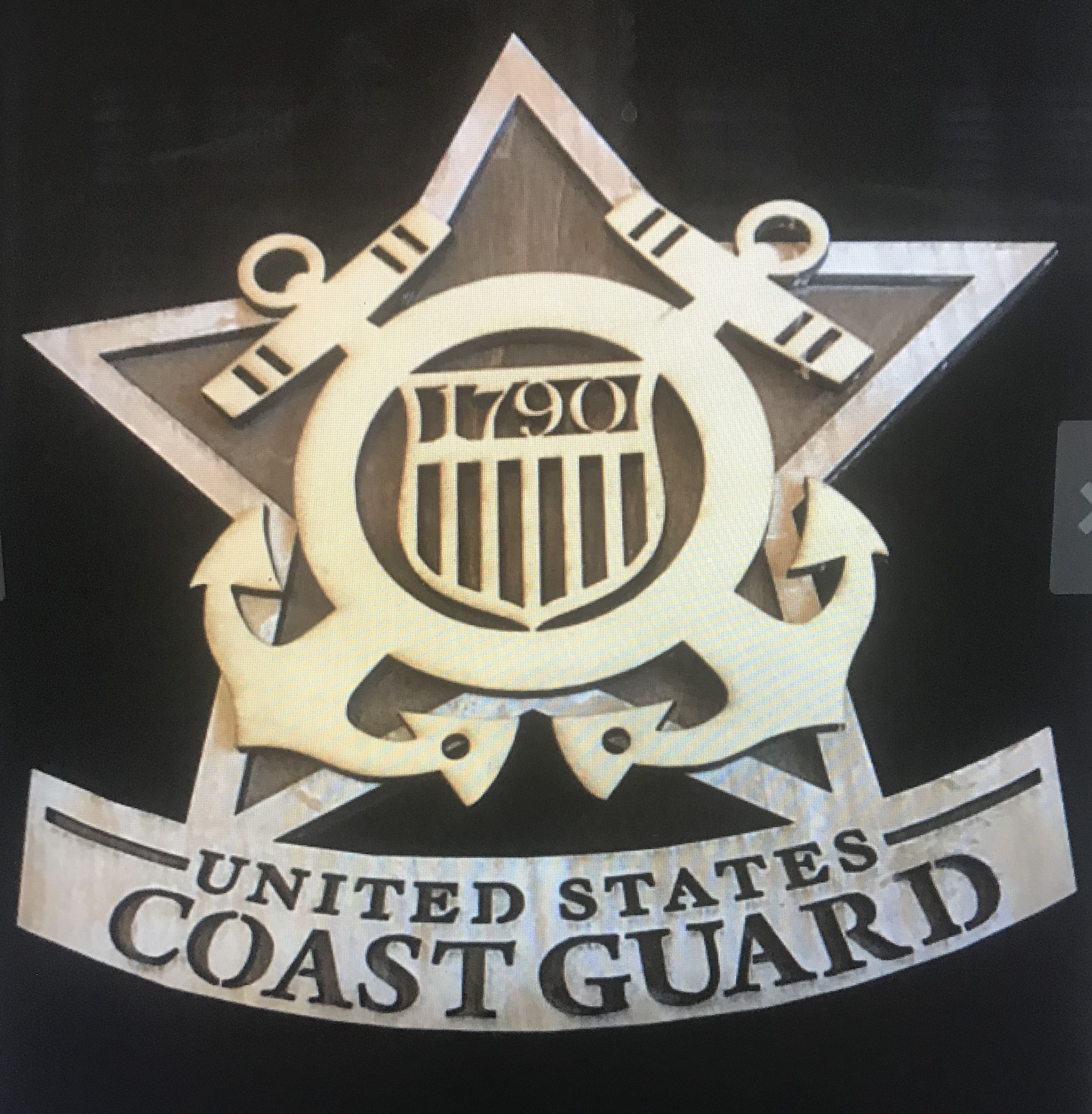 engraved laser plaque guard wood coast military