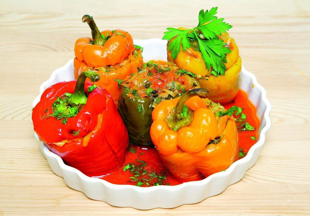 ingredients stuffed peppers cookery cook