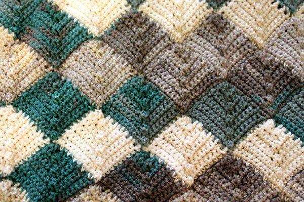 goods style crochet textile entrelac