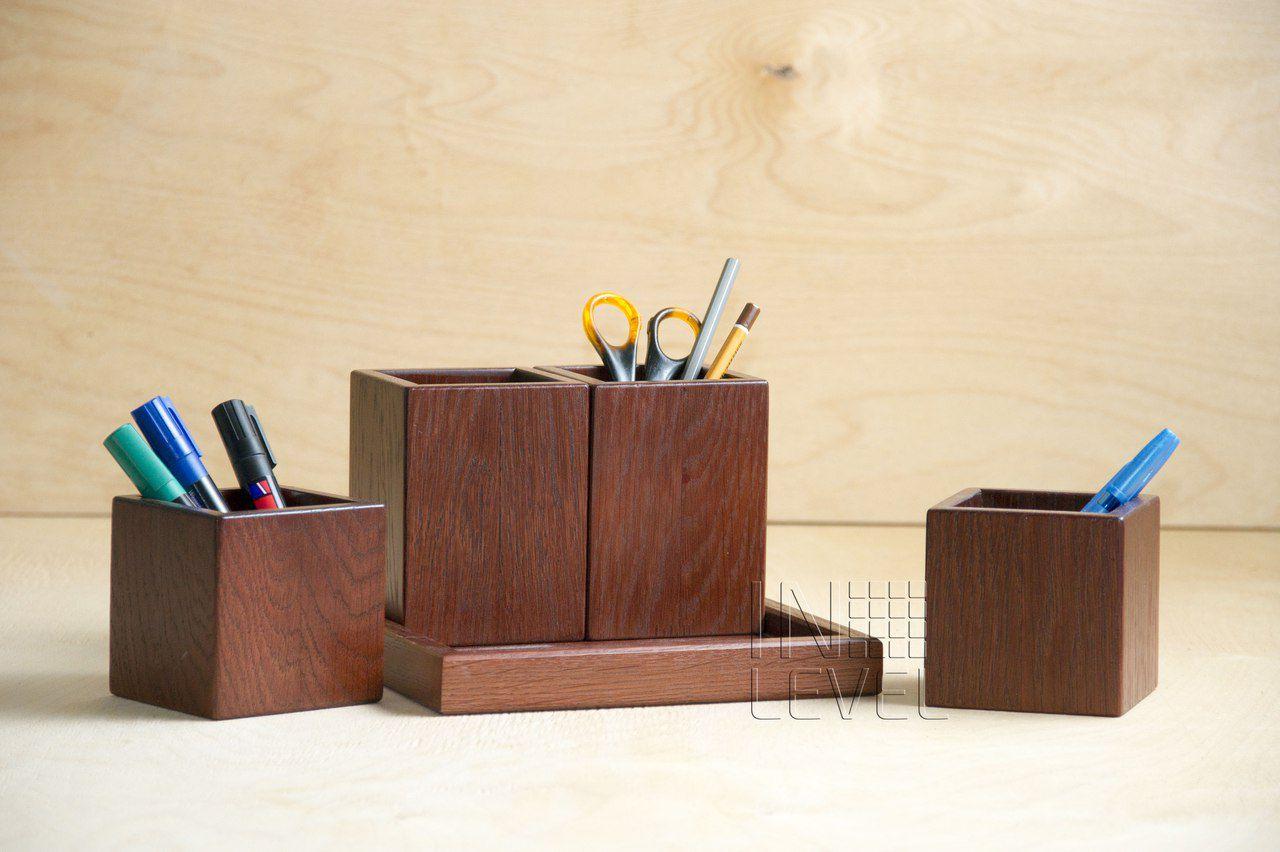 wood business oak mahogany office organizer