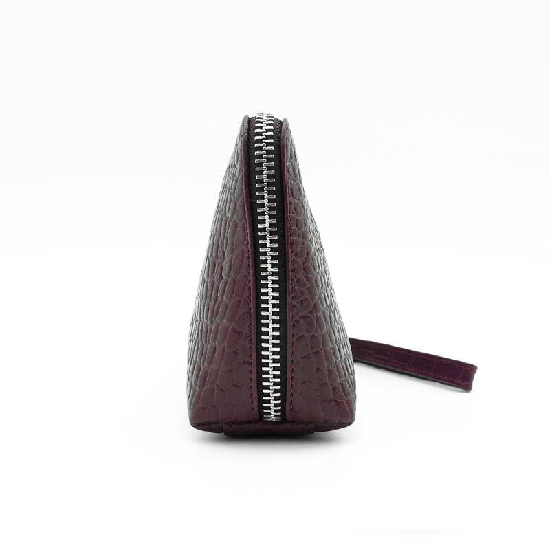 handmade leather accessories wallet burgundy