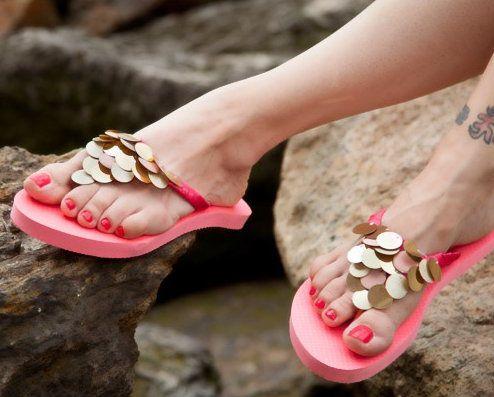 ribbon footwear flip flops elements decorate