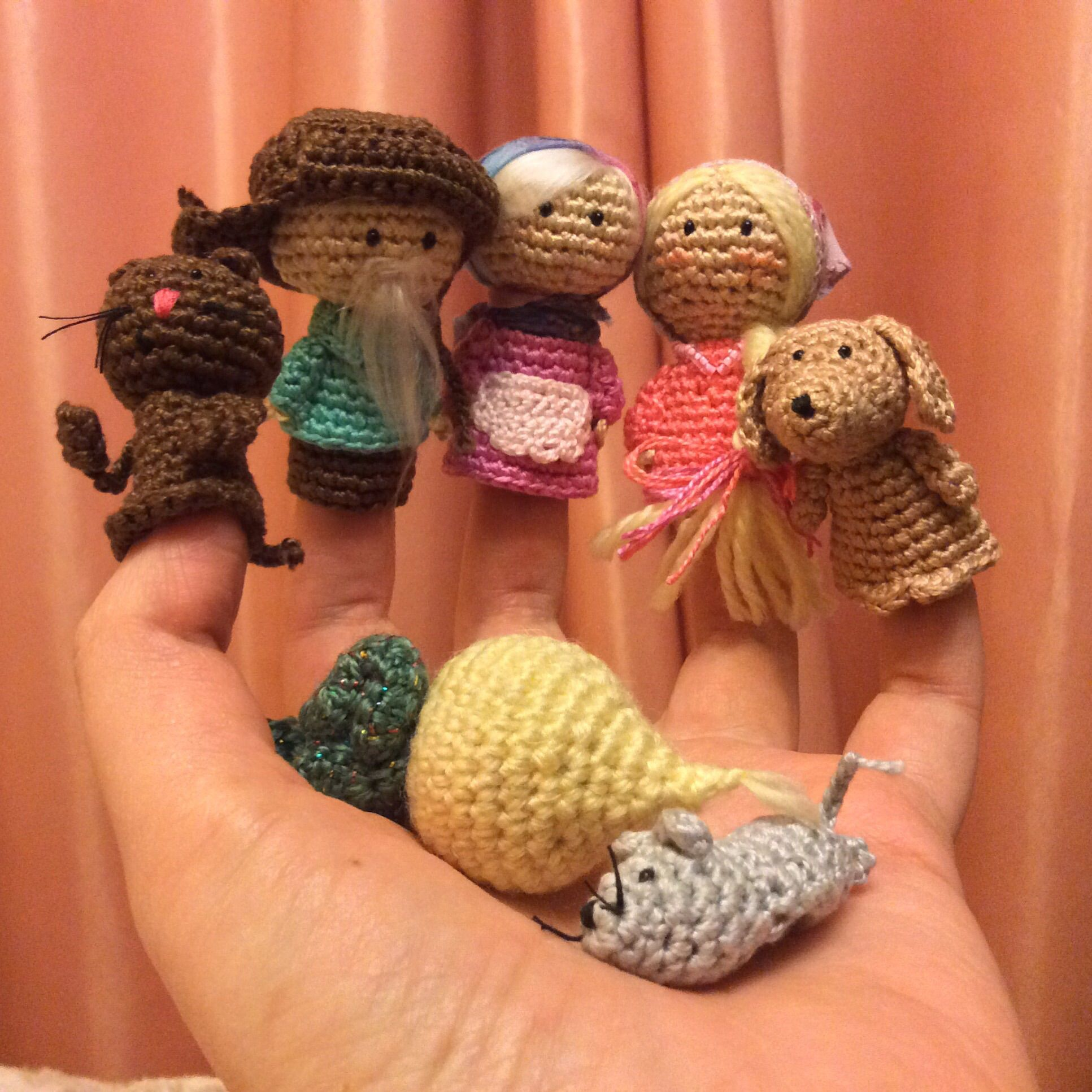 toy gift finger textile kids puppets