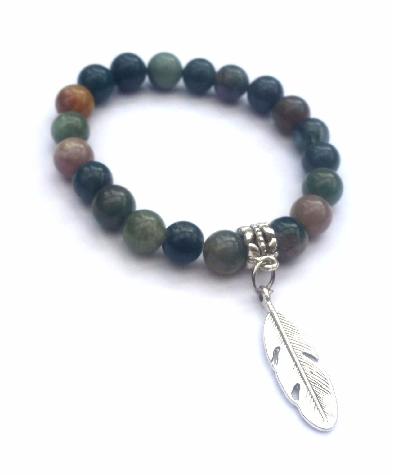 agate bracelet natural jewelry jewellery feather lucky