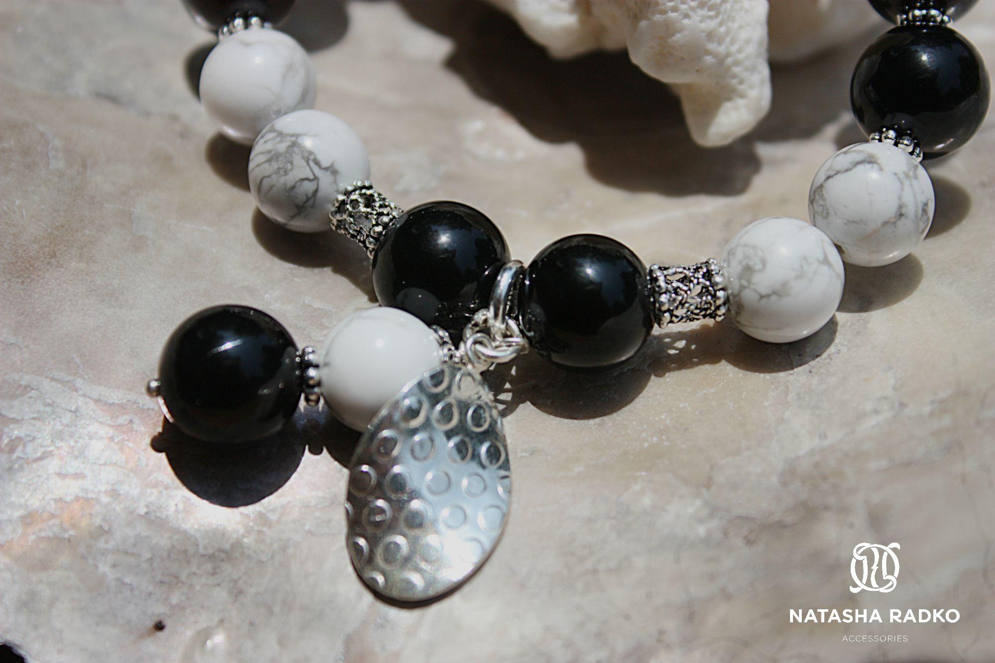 wristlet silver agate cacholong